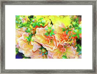 Seattle Public Market Flowers Framed Print