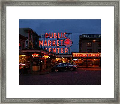 Seattle Public Market Framed Print by Sonja Anderson