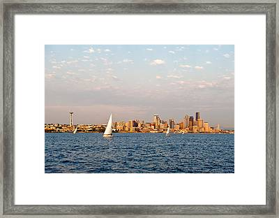 Seattle Puget Sound Framed Print by Tom Dowd