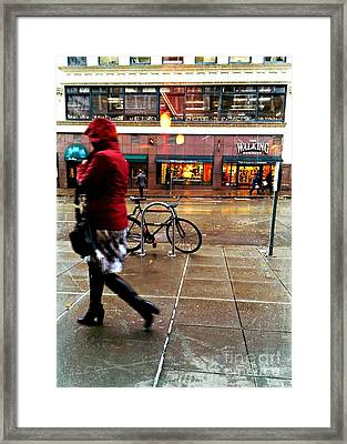 Seattle Rain Framed Print