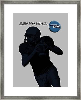 Seattle Seahawks Football Framed Print