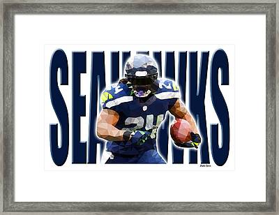 Framed Print featuring the digital art Seattle Seahawks by Stephen Younts