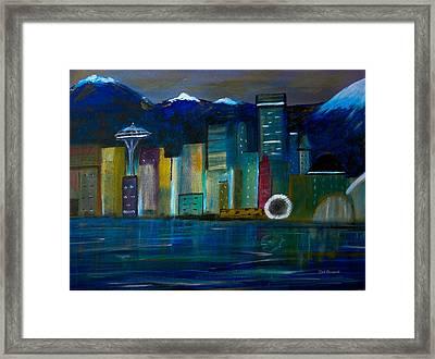 Seattle Skyiline Framed Print