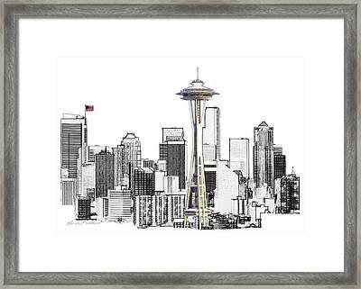 Seattle Skyline Framed Print