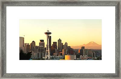 Seattle Skyline From Kerry Park Framed Print