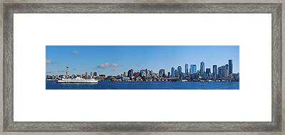 Seattle Skyline Panorama Framed Print