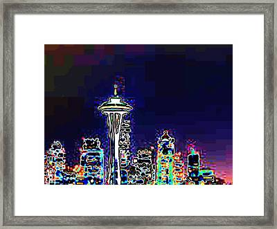 Seattle Skyline Framed Print by Tim Allen