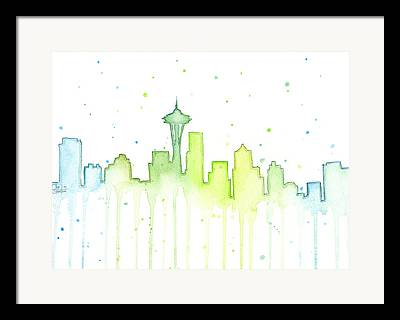 Space Needle Framed Prints