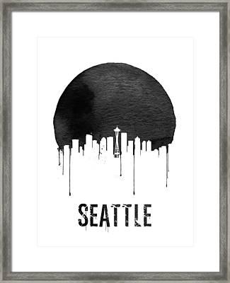 Seattle Skyline White Framed Print