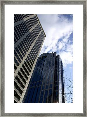 Seattle Skyscrapers Framed Print by Sonja Anderson