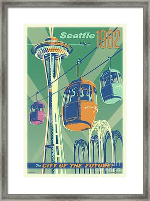 Seattle Space Needle 1962 - Alternate Framed Print