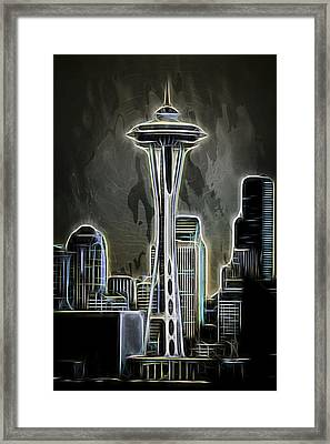 Aaron Berg Photography Framed Print featuring the photograph Seattle Space Needle 2 by Aaron Berg