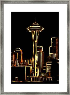 Aaron Berg Photography Framed Print featuring the photograph Seattle Space Needle 3 by Aaron Berg