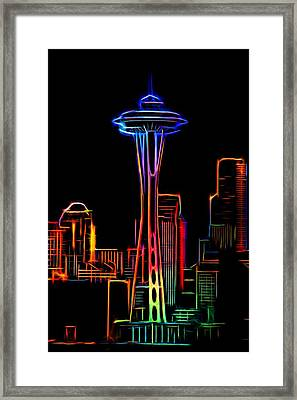Seattle Space Needle 4 Framed Print