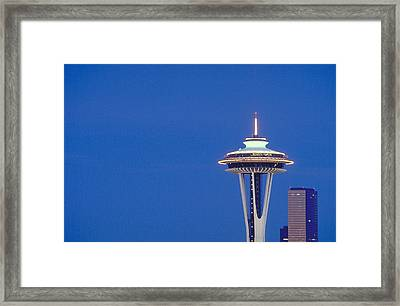 Seattle Space Needle Framed Print by Greg  West