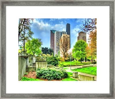 Seattle Spring Fine Art Print Framed Print by Greg Sigrist