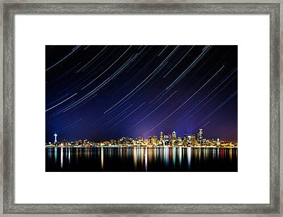 Seattle Stars Framed Print by Victor Dallons