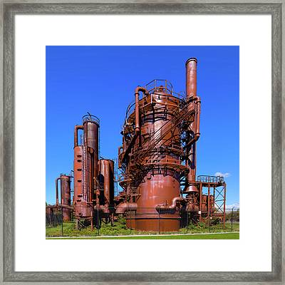Seattle Steampunk Framed Print by David Patterson