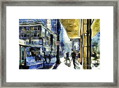 Framed Print featuring the photograph Seattle Streets #2 by Susan Parish
