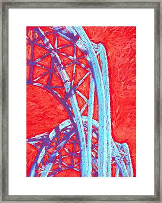 Seattle Structure Framed Print by Jennifer Bonset