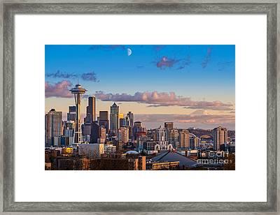 Seattle Sunset Framed Print by Jamie Pham
