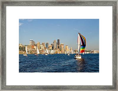 Seattle Tack Framed Print by Tom Dowd