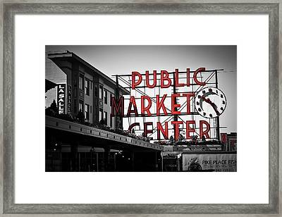 Seattle Time Framed Print by April Reppucci