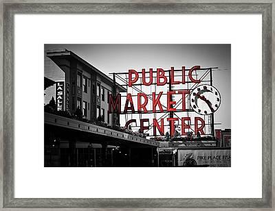 Seattle Time Framed Print