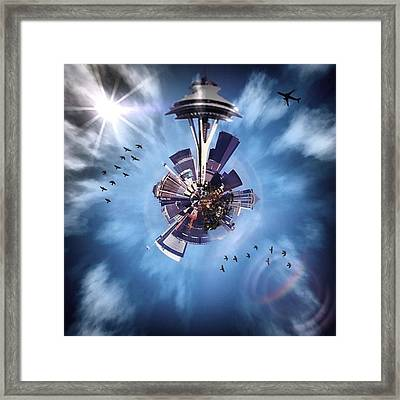 Seattle #tinyworld #spaceneedle Framed Print