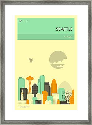 Seattle Travel Poster Framed Print