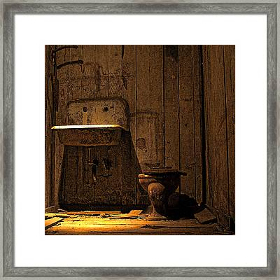 Seattle Underground Bathroom Framed Print