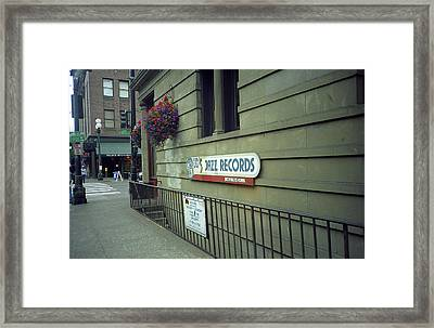 Seattle - Underground Record Store, 2007 Framed Print