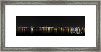 Seattle Washington Skyline From Alki Seacrest Park At 10mm Framed Print