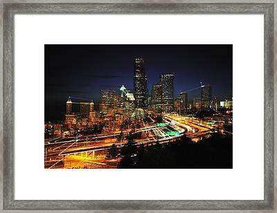 Seattle Zooming C087 Framed Print by Yoshiki Nakamura