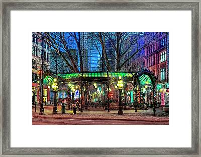 Seattle's Iron Pergola Framed Print