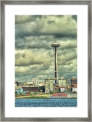Seattle's Landmark Framed Print by Dale Stillman