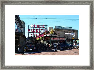 Seattle's Pike Place Market Center  Framed Print by Candace Garcia
