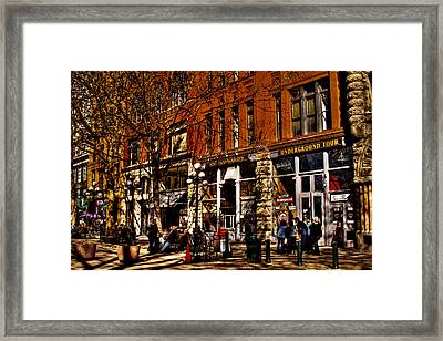Seattle's Underground Tour Framed Print by David Patterson