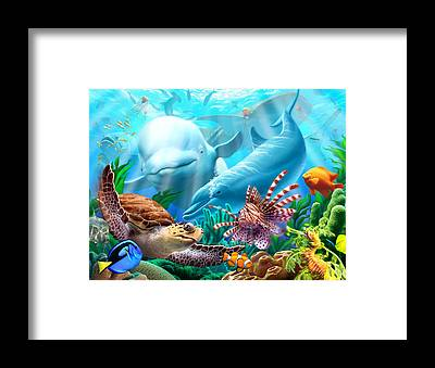 Clown Fishes Framed Prints