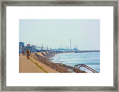 Seawall Blvd Framed Print