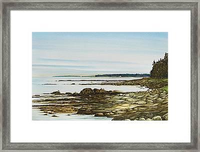 Seawall Mt. Desert Island Framed Print