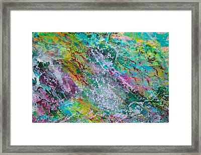 Seaweed And Spray Color Poem Framed Print