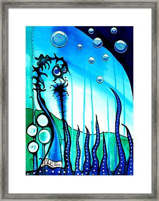 Seaweed - Art By Dora Hathazi Mendes Framed Print by Dora Hathazi Mendes
