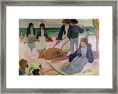 Seaweed Gatherers Framed Print