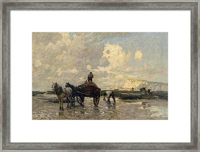 Seaweed Gatherers Framed Print by Terrick Williams