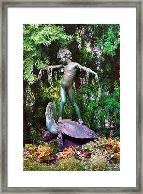 Seaweed Girl Framed Print by Bill Cannon