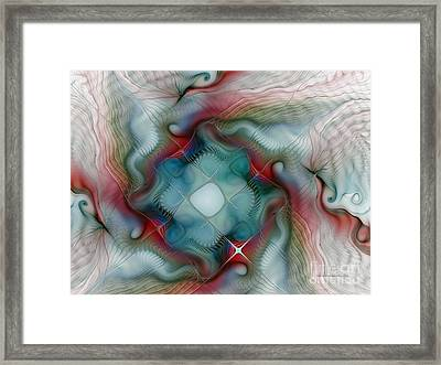Framed Print featuring the digital art Seaworld by Karin Kuhlmann