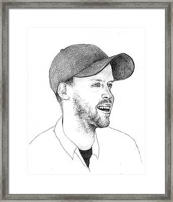 Sebastean Vettel Framed Print