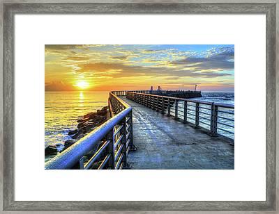 Sebastian Inlet Pier Along Melbourne Beach Framed Print