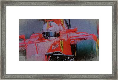 Sebastian Vettel Framed Print by Marvin Spates